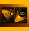 music club party flyer poster design template vector image
