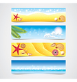 banners tropical vector image