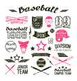 Icons Baseball campus team vector image