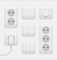 Switches and sockets vector image