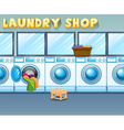 Scene in laundry shop vector image vector image