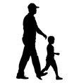 Silhouettes Family on white background vector image