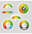 Gauge chart meter elements vector image vector image