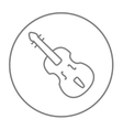 Cello line icon vector image