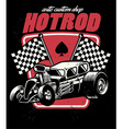 hot rod auto custom shop badge vector image