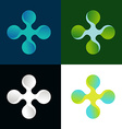 abstract logo in different colors vector image
