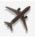 airplane silhouettetop view jet commercial vector image