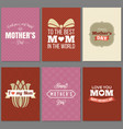 happy mother day greeting cards template vector image