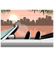 Lakeside convertible City View vector image