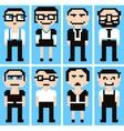 pixel cartoon vector image