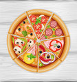 pizza slice assorted vector image