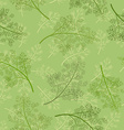 Seamless texture of dill vector image