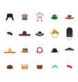 Set of nation hat vector image