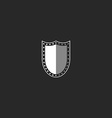 Shield logo black and white symbol mockup security vector image