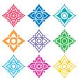 Thai folk art pattern - flower shape vector image