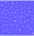 winter seamless snowflake pattern vector image