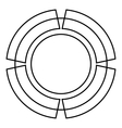 Circle graph icon outline style vector image