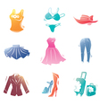 Fashion Clothes Icons Set vector image