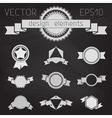 set of chalkboard badges labels banners ribbons vector image