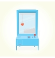 Heart toy prize claw machine vector image