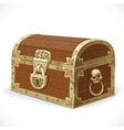 Pirates chest isolated on a white background vector image