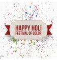Holi indian Festival Background Template vector image