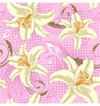 seamless pattern with lily vector image vector image
