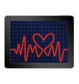 cardiogram with heart vector image