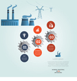 industrial infographic 3 vector image