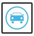 Car Framed Icon vector image