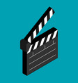 flat clapboard icon vector image