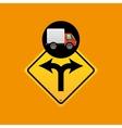 fork traffic sign concept vector image
