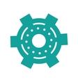 green gear wheel engine cog icon vector image