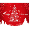 Merry Christmas tree shape vector image