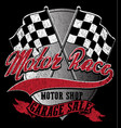 motor sports logo graphic design vector image