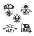 Pirate logo labels and badges Vintage vector image