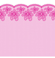 Seamless pink lacy border vector image