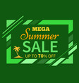 summer sale up to 70 off colorful vector image