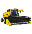Yellow big harvester vector image