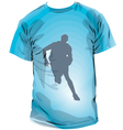 Basketball T-shirt vector image
