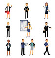 businessmen in suits set office employees vector image