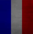 Grunge messy flag France vector image