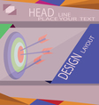 Abstract target with arrows for infographic templa vector image