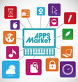 apps market vector image