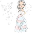 Beautiful fashionable girl bride vector image