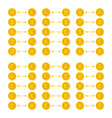 bitcoin litecoin dollar euro and other currency vector image