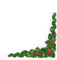 christmas border vector image