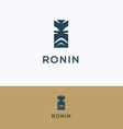 Face ronin man samurai logo vector image