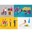 Family summer holiday travel vector image