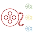 film circular line icon on white background vector image